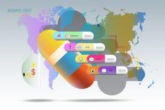 Iinfographic-timline Schablone 3D mit Ikone für Marketing Lizenzfreie Stockfotos