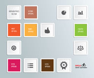 Iinfographics number options Stock Photo