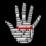 Iinnovation design human hand Royalty Free Stock Image