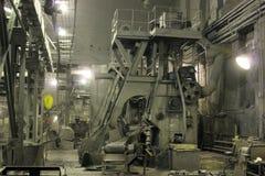 Iinterior da loja velha da fábrica da máquina ferramenta Imagem de Stock