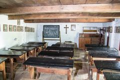 Iinterior of the historic old village school in city of Lowicz Stock Images