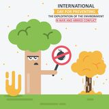 IInternational Day for Preventing the Exploitation of the Environment in War and Armed Conflict. International Day for Preventing the Exploitation of the Royalty Free Stock Photo