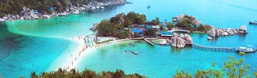 Iisland酸值Nang元,泰国 热带的海滩 库存照片