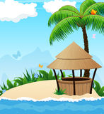 Iisland with cocktail Bar Stock Images