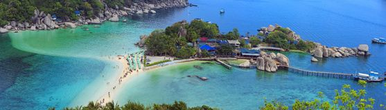 Iisland Koh Nang Yuan, Thailand Royalty Free Stock Images
