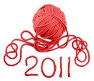 iisolated czerwony skein Fotografia Stock