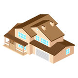 Iisometric suburban american house. For web design and applicati. On interface, also useful for infographics. Vector modern illustration Royalty Free Stock Image