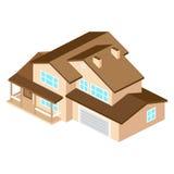 Iisometric suburban american house. For web design and applicati Royalty Free Stock Image