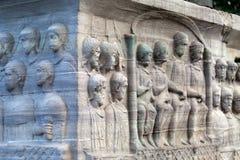 Iistambul. Istambul - The base of the Obelisk of Thutmosis III Royalty Free Stock Photos