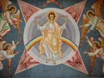 Iisus Hristos i aniołowie Obrazy Stock