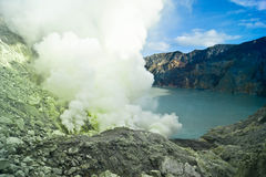 Ijan Volcano. In the west part of Java island- Indonesia Royalty Free Stock Photos