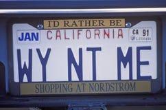 Ijdelheidsnummerplaat - Californië royalty-vrije stock fotografie