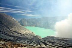 ijen印度尼西亚火山 库存图片