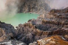 ijen火山 图库摄影