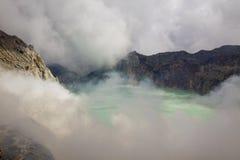 火山口ijen 免版税库存图片