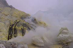 Ijen Crater, Indonesia Stock Photos