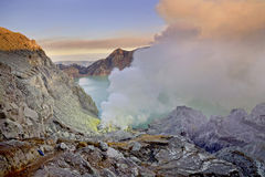 Ijen crater. Its a landscape of banyuwangi famous crater called ijen royalty free stock photo