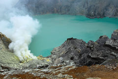 Ijen Crator Royalty Free Stock Photography