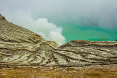 Ijen Crator Royalty Free Stock Images