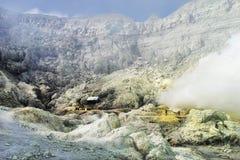 Ijen crator sulfuric acid lake Stock Images