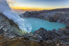 ijen kawah wulkan obrazy stock