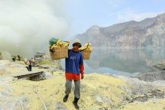 Ijen krater na wyspie Jawa, Indonezja Obrazy Stock
