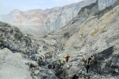 Ijen krater na wyspie Jawa, Indonezja Fotografia Stock