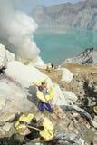 Ijen krater na wyspie Jawa, Indonezja Zdjęcia Stock