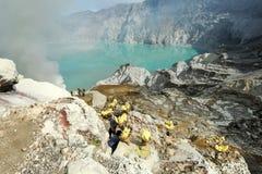 Ijen krater na wyspie Jawa, Indonezja Obraz Stock