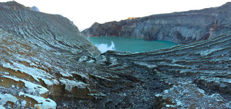 Ijen Lake crater erosion, East Java, Indonesia Royalty Free Stock Images