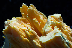 Ijen Sulphur with yellow bright color. Ijen crater produce sulphur since long time ago Stock Photo