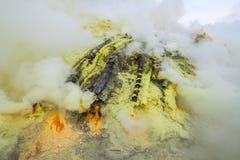 Ijen volcano crater Stock Photos