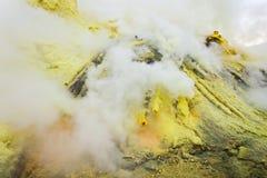 Ijen volcano crater Stock Images