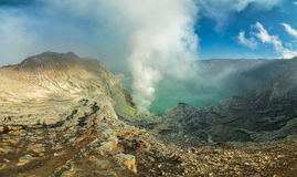Ijen volcano. Ijen is a volcano locates in Java, Indonesia Royalty Free Stock Photo