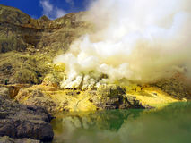 Ijen-vulcano lizenzfreie stockfotografie