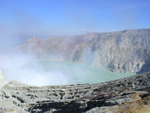 Ijen Vulkan stockfotografie
