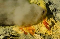 Ijen-Vulkan lizenzfreie stockbilder