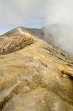 Ijen-Vulkan stockbilder