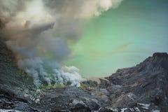 ijen vulkan Arkivfoton