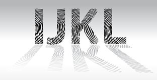 Ijkl fingerprint alphabet Stock Photos