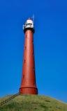 IJmuiden高灯塔反对深蓝天的 图库摄影