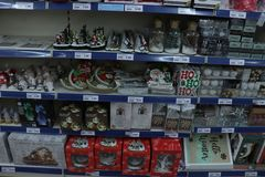 IJmuiden, οι Κάτω Χώρες - 14 Οκτωβρίου 2018: Διακοσμήσεις Χριστουγέννων στοκ εικόνα με δικαίωμα ελεύθερης χρήσης