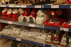IJmuiden, οι Κάτω Χώρες - 14 Οκτωβρίου 2018: Διακοσμήσεις Χριστουγέννων στοκ φωτογραφία με δικαίωμα ελεύθερης χρήσης