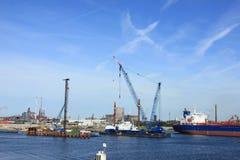 IJmuiden, στις 10 Σεπτεμβρίου 2016: η κλειδαριά παγκόσμιας μεγαλύτερη θάλασσας Στοκ εικόνα με δικαίωμα ελεύθερης χρήσης