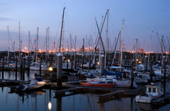 Ijmuiden harbour. Ijmuiden summertime Stock Photos