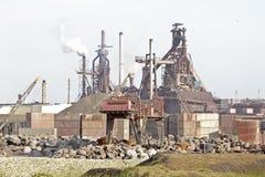 ijmuiden industri nära Nederländerna Arkivbild