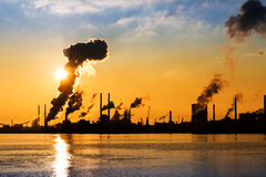 IJmuiden industry sunset Stock Images