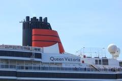 IJmuiden, los Países Bajos - 5 de junio de 2017: Reina Victoria, Cunard Fotografía de archivo