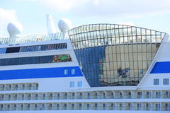 IJmuiden, the Netherlands -April 29th, 2017:   Aida Luna detail of ship Stock Photo