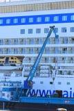 IJmuiden, the Netherlands -April 29th, 2017:   Aida Luna docked at Felison Cruise Terminal IJmuiden Stock Photo
